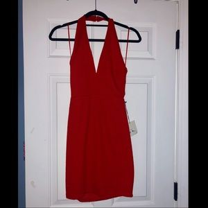 Bianca halter dress from Toni in red